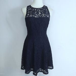 BB Dakota Womens Blue Lace Dress Sz 8